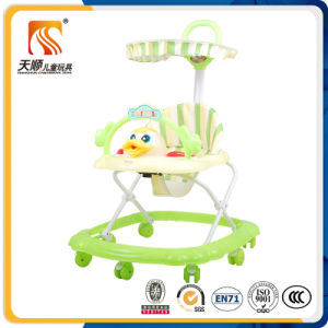 Latest Outdoor Ride on Plastic Baby Walker with Canopy pictures & photos
