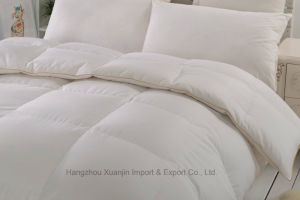 600t High Count Cotton Fabric White Goose Down Duvet pictures & photos