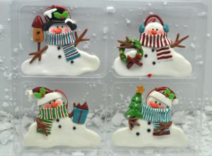 Snowmans Polymer Clay Christmas Tree Ornaments Wholesale