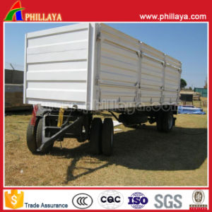 4 Wheels Side Wall Full Cargo Box Trailer pictures & photos