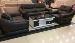 Black Color Sofa, Leather Sofa, Modern Sofa (1209) pictures & photos