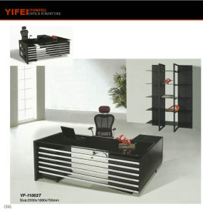 2.2m Modern Style Glass Office Talbe Furniture (Yf-12005t)