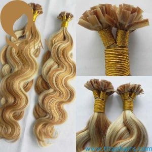 Piano Color 27#/613# Body Wave Remy Flat Tip Hair Extesnion