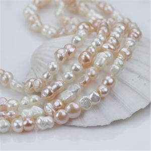 10mm 47′′ Long Baroque Shape Mixed Color Natural Cultured Freshwater Pearl Necklace pictures & photos