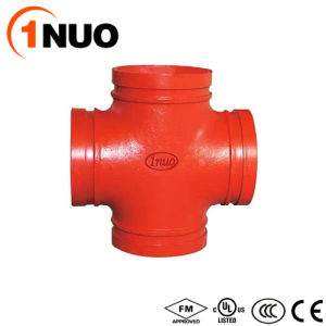 1nuo Promotion High Quality Grooved Pipe Fittings Ductile Iron Cross pictures & photos