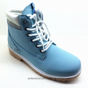 Injection Sole Leather Casual Boots for Women (ET-XK160352W) pictures & photos