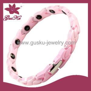 Fashion Pink Ceramic Bracelet Jewelry (2015 Gus-Cmb-024)