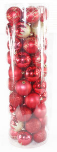 6cm Christmas Ball in PVC Tube with 50PCS