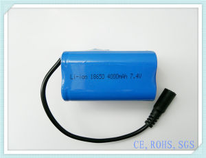 Lithium Battery Pack 18650-4000mAh 7.4V, Power Bank, Rechargeable Battery, Li-ion Battery, Lithium Battery Pack