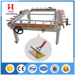 Factory Price Chain Wheel Manual Screen Mesh Stretching Machine pictures & photos