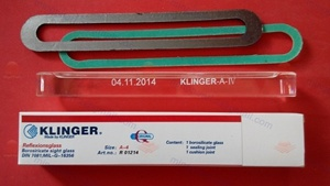 Klinger Reflex Level Gauge Glass DIN7081