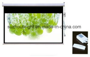 120 Inch Electric Screen Projector Motorized Screen Projector with Remote Control pictures & photos