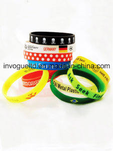 Custom Color Filled Silicone Wristband pictures & photos