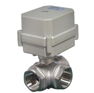 3/4′′ 3way Electric Motorized Actuator Stainless Steel Ball Valve (T20-S3-C) pictures & photos