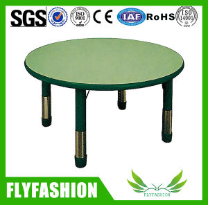 Adjustable Round Wooden Children Table (SF-57C) pictures & photos