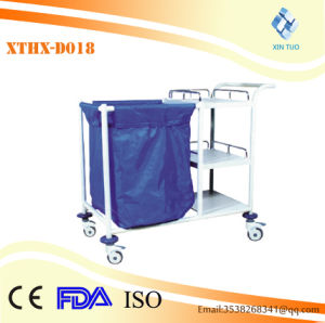 Factory Direct Price Cheape Price Plastic-Sprayed Morning Care Nursing Vehicle Laundry Trolley pictures & photos