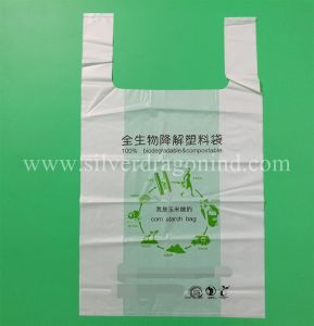 Custom 100% Biodegradable Compostable Shopping Bag pictures & photos