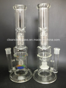 "Wholesale! Glass Water Pipe Smoking Pipe 16"" with Frit Disk, Tyre Perc and Arm Perc"