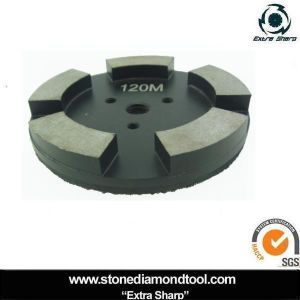 4′′ Concrete Polishing Pad Metal Velcro with 5 Segments pictures & photos