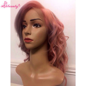 7A Lace Front Human Hair Wigs Brazilian Virgin Hair Ombre Pink Hair pictures & photos