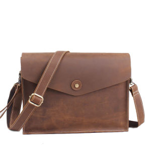 Crazy Horse Leather Vintage Laptop Handbag pictures & photos