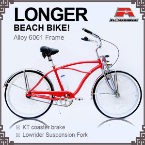 Alloy Frame Longer Beach Cruiser Bicycle for Men (ARS-2686S-1) pictures & photos