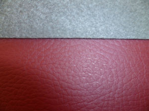 Litchi Emboss PU Leather for Shoes Upper pictures & photos