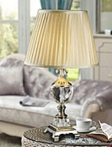 Phine 90207 Clear Crystal Table Lamp with Fabric Shade pictures & photos