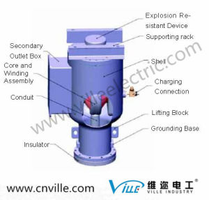 Gas-Insulated Voltage Transformer /Transformer Parts PT / PT Product High Performance Gas Insulated Hv Transformer for Gis pictures & photos