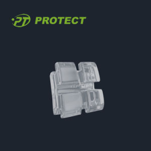 Orthodontic Manufacturer Protect Dental Clear Ceramic Bracket for Sale
