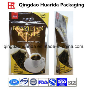 Colorful Printing Bottom Gusset Coffee Plastic Packaging Bag with Zipper pictures & photos