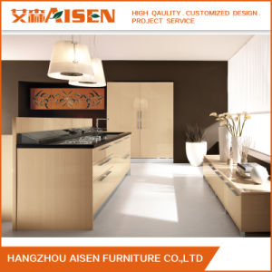 Three Section Track Home Furniture Modern Kitchen Cabinets pictures & photos