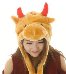 Warm Soft Cute Funny Plush Animal Party Hat pictures & photos