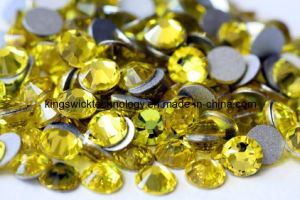 5mm Citrine Ss20 1440PCS/Bag Crystal Flat Back Rhinestone pictures & photos