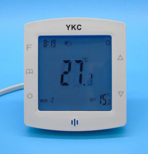 Double Sensor Programmable Room Floor Heating Thermostat with Touch Screen pictures & photos