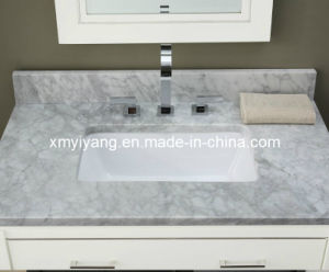 Polished Carrara White Marble Vanity Top for Bathroom (YY-VT001) pictures & photos