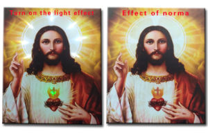 Wholesale 2016 Latest LED Light Oil Paintings on Canvas Jesus, Decoration Painting pictures & photos