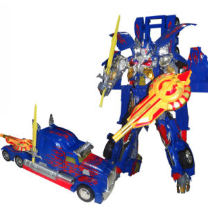 Newest ABS Car Transform Robot Toy with Sound and Light pictures & photos