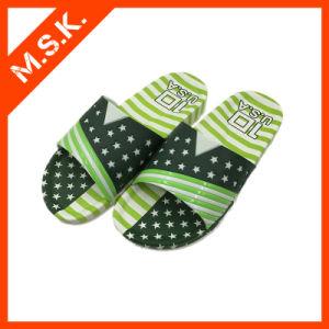 Comfort Sandles Slippers for Man (Green Printing MSK-SA809)