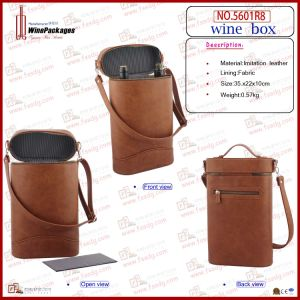 Top-End Two Bottles Wine Bag (5601R8) pictures & photos