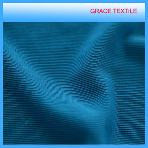 95%Poly 5%Span Tubular Ribbing Knitted Fabric pictures & photos