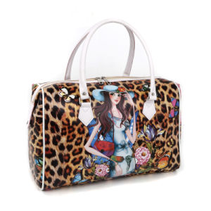Hot Selling Printed PVC Leather Duffle Bag pictures & photos