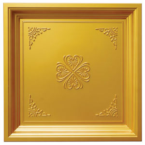 Gold FRP Tile Look 3D Waterproof Wall Panel