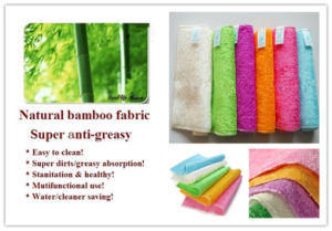 Natural Bamboo Fabric Anti Grease Dishcloths Cleaning Kitchen Products Factory