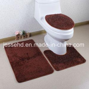 Simple Design 3PCS Bathroom Toilet Mat Set pictures & photos