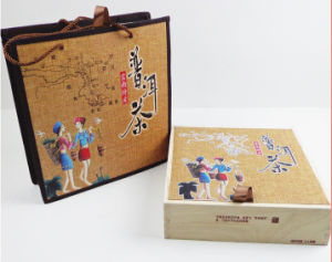 Brand Tea Packing Wood Box and Bag Set pictures & photos