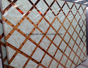 Mirror Marble Glass, Art Glass, Back Painting Glass for Decorating pictures & photos