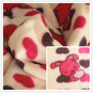 Printed Polar Fleece Double -Faced Pile Poly Fleece Fabric pictures & photos