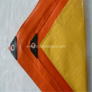 120GSM Blue Orange HDPE Poly Tarp with Eyelets pictures & photos