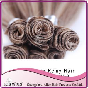 100% Indian Hair Hand Tie Human Hair Extension pictures & photos